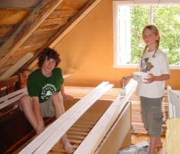 Mathias and Kirstine painting