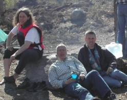 Susanne, Stig and Per on the canoe trip